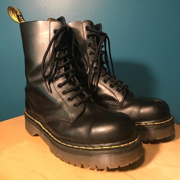 Dr Martens Black Eye Steel Toe Boots Uk